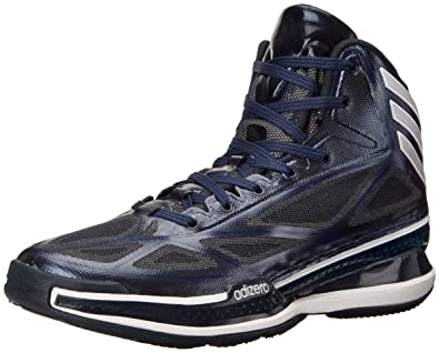 adidas Performance Men's adizero Crazy Light 3 Basketball Shoe,  Navy/Silver, ...