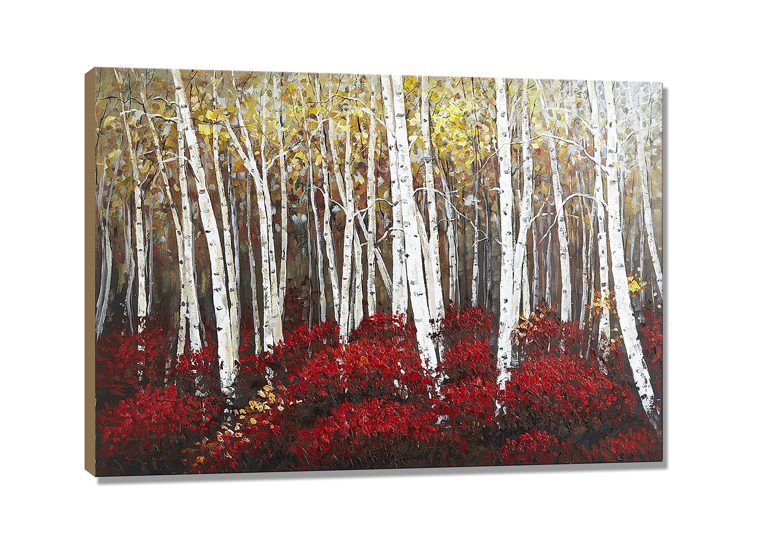 UAC WALL ARTS Watercolor Woods Hand Painted Canvas Wall Art for Home Wall Decor by UAC WALL ARTS (Image #2)
