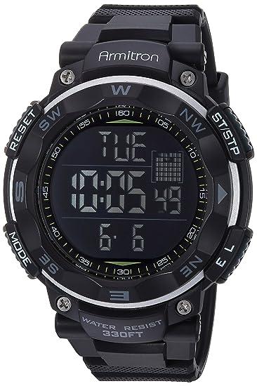 ARMITRON PRO SPORT 408254BLK Reloj Deportivos para Hombre  Amazon ... 570b1337f5b5