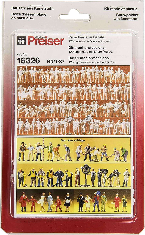 Preiser 16337   1:87 Reisende u 120 St. Passanten unbemalt
