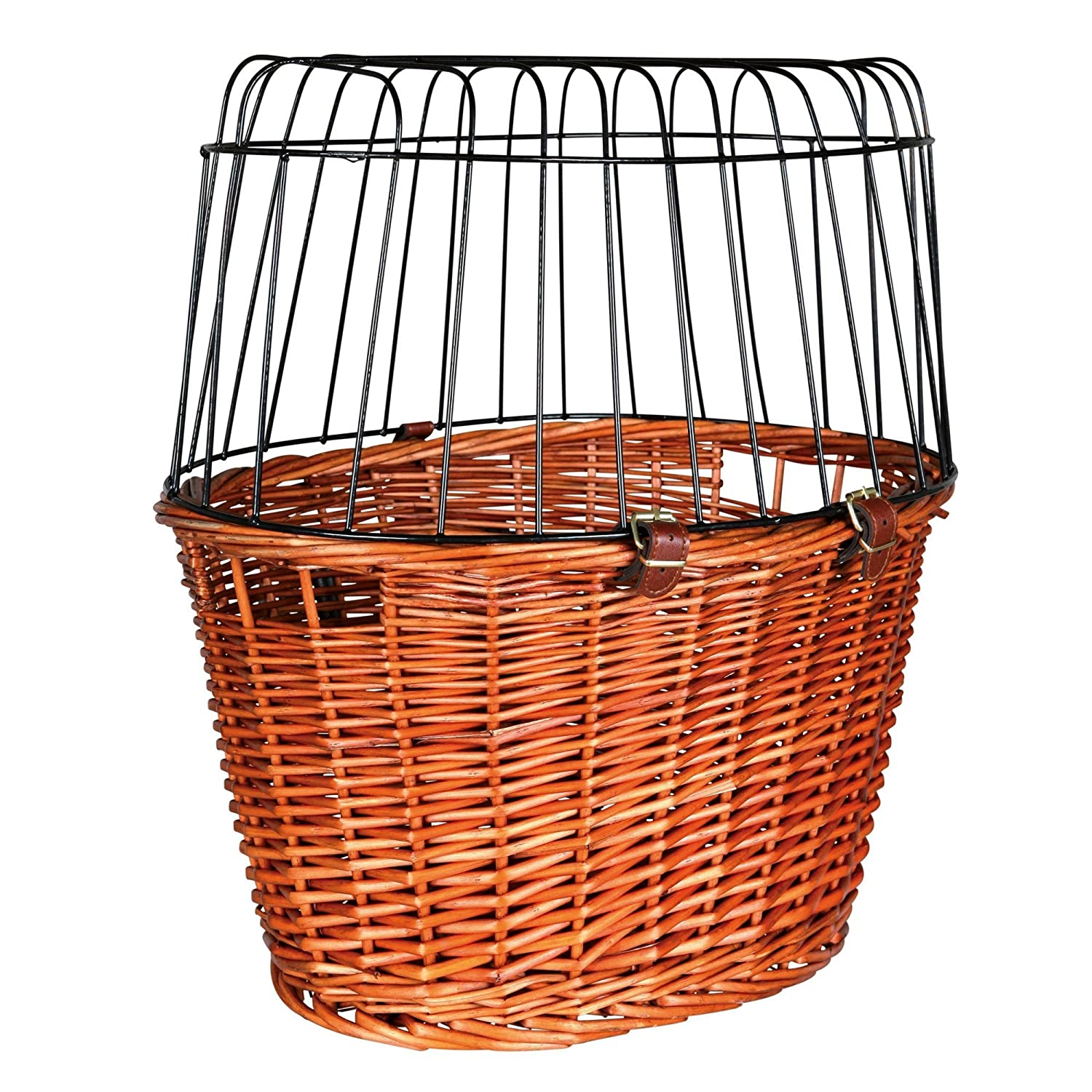 Trixie Bicycle Basket With Lattice (17.5 × 19 × 13ins) (Tan)