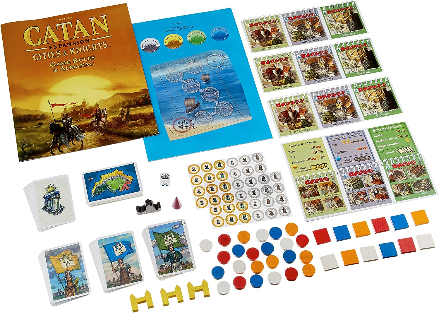 Mayfair Games Catan Expansion Cities and Knights Board Game: Amazon.es: Juguetes y juegos