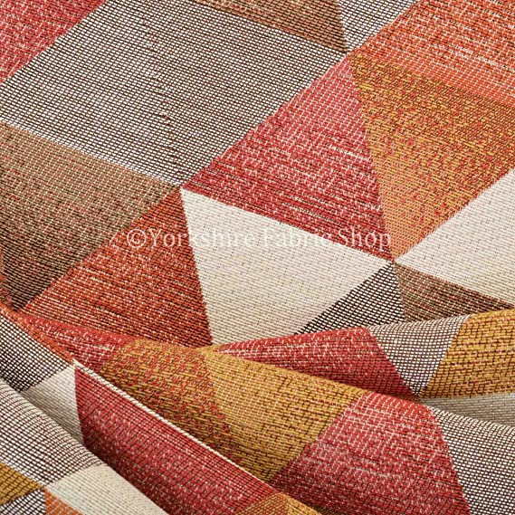 Yorkshire Fabric Shop Exclusiva Tela patrón geométrico Color ...