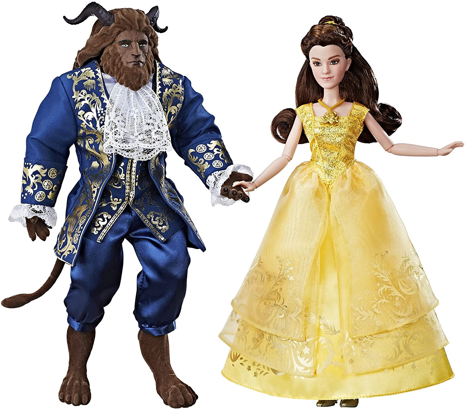 Amazon Com Disney Beauty And The Beast Grand Romance Inspired By Live Action Film Includes Posable Princess Belle And The Beast Includes Doll Dress Shoes Necklace Hairpiece And Beast Figure Toys