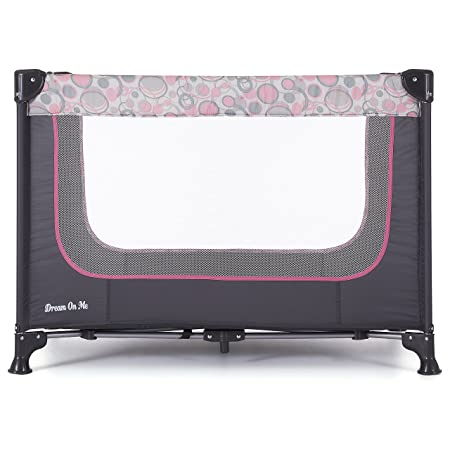 Dream On Me Zodiak Portable Playard, Grey Pink