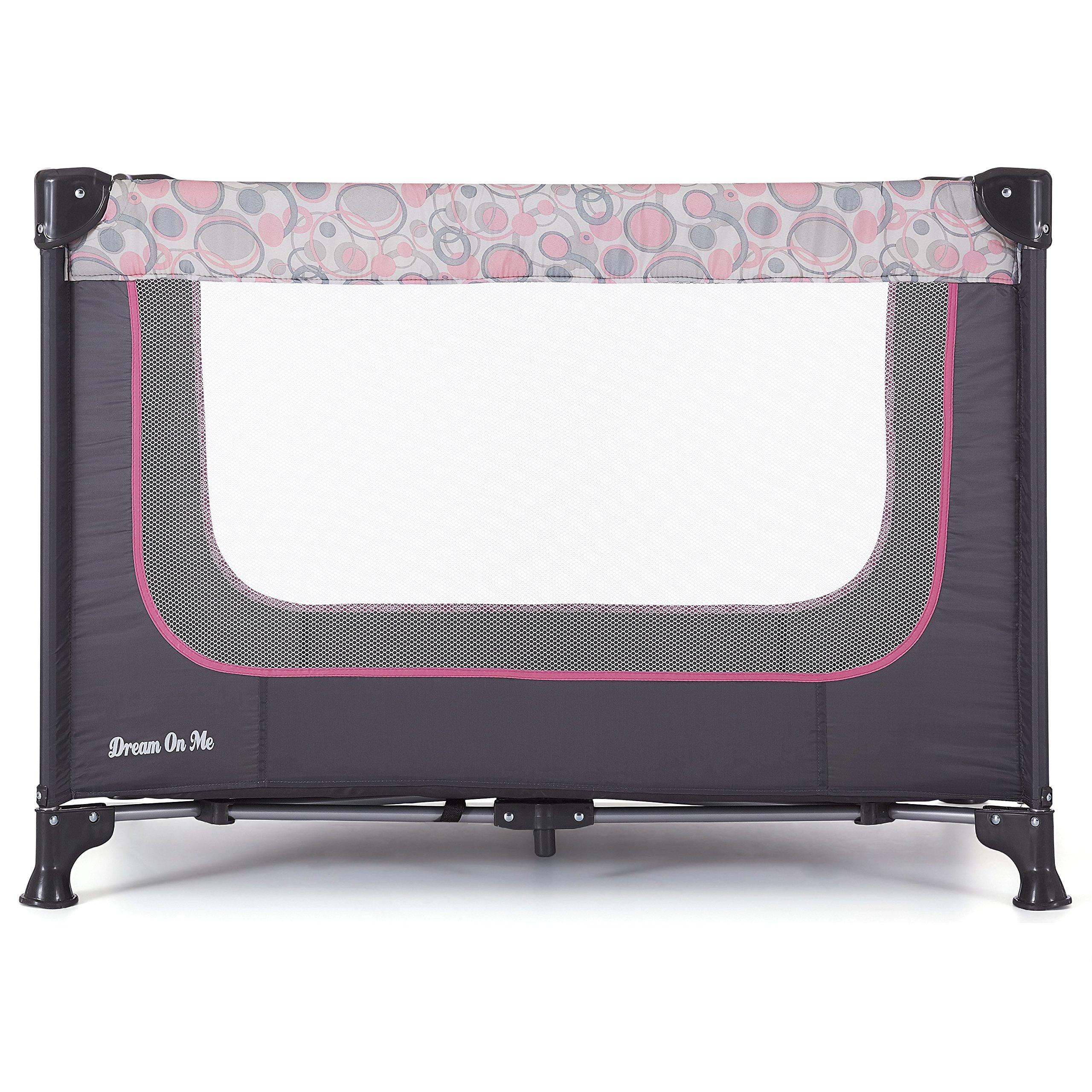 Dream On Me Zodiak Portable Playard, Grey/Pink