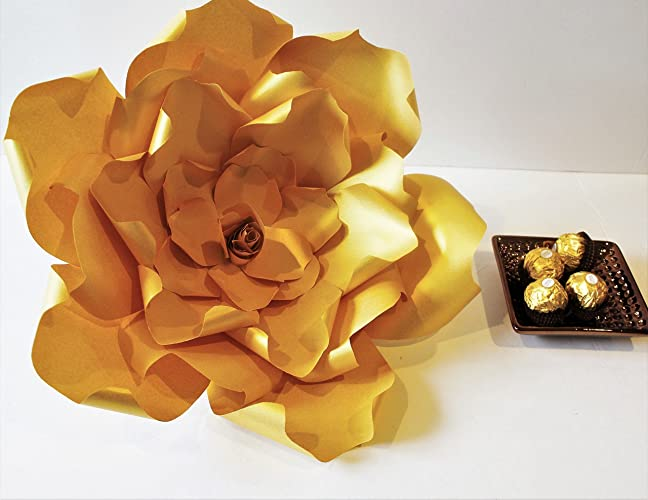 Amazon trend it up gold giant paper flower wedding flower trend it up gold giant paper flower wedding flower backdrop baby shower backdrop mightylinksfo