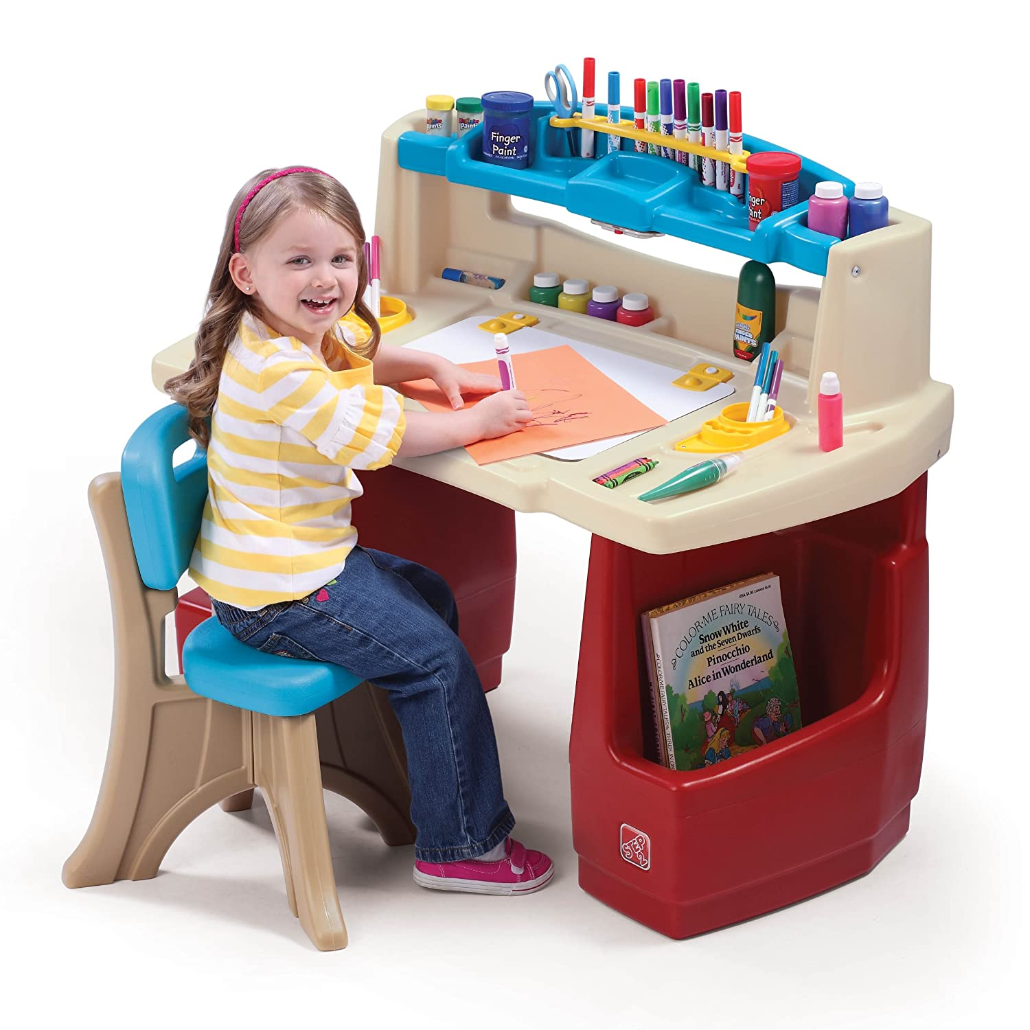 Amazon Step2 Deluxe Art Master Kids Desk Toys & Games