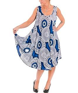 51b8d3d06ba8b3 Gadzo Strandkleid Damen Sommerkleider Strandkleider Sommerkleid Knielang  Tunika Trägerkleid M L XL XXL
