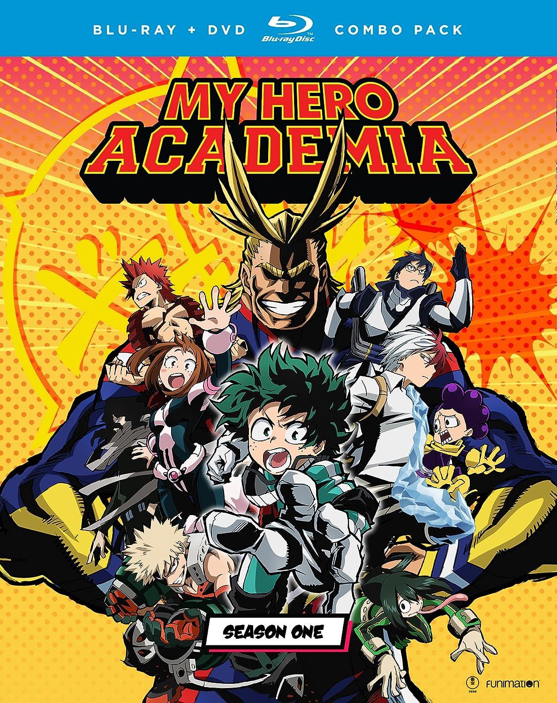 amazon com my hero academia season one blu ray christopher r