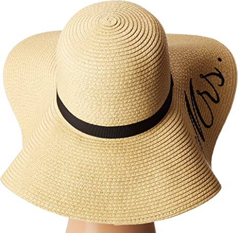 Betsey Johnson Women s Bride mrs. Floppy Hat 250f8a74a