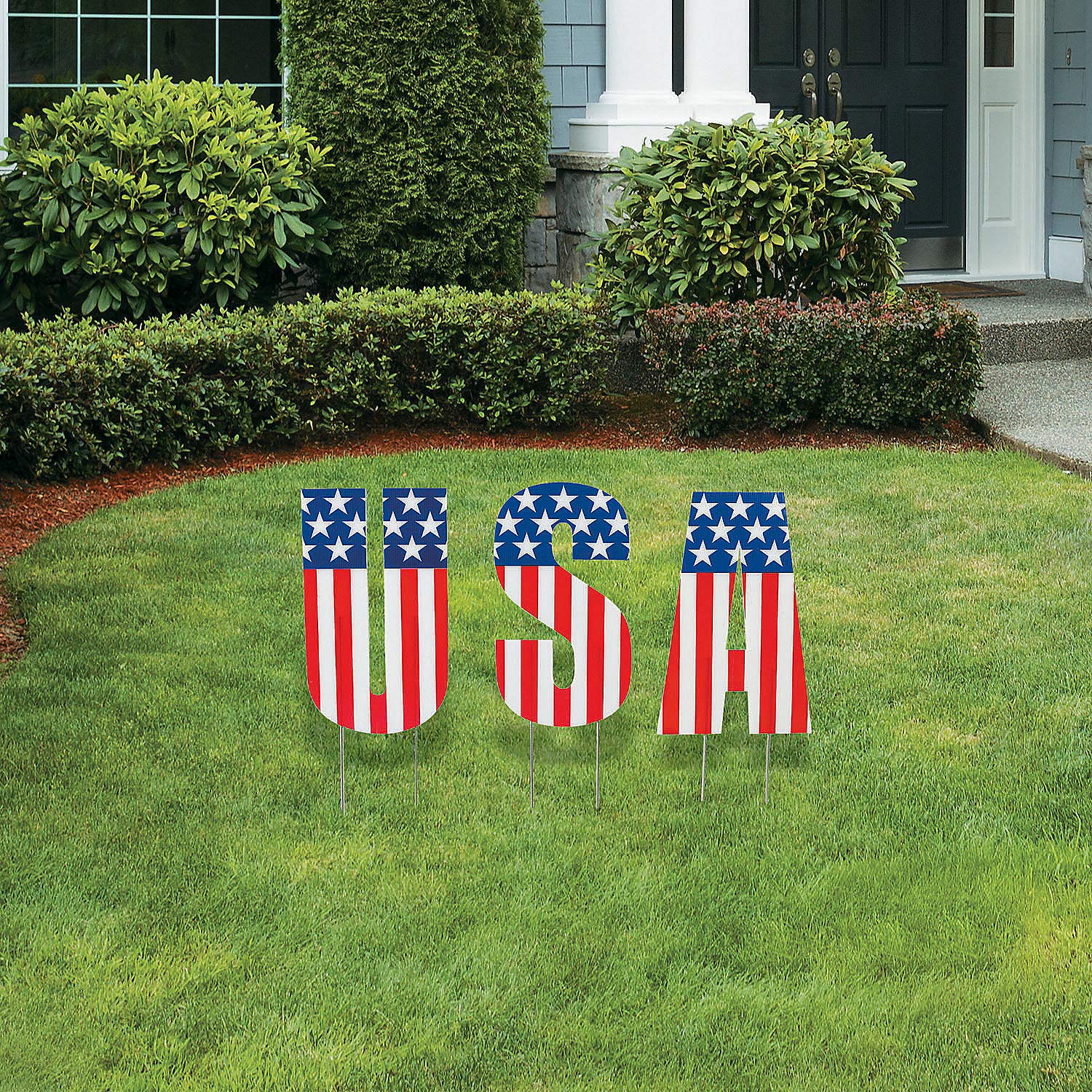 USA Letter Yard Sign - 4th of July Decor ideas!