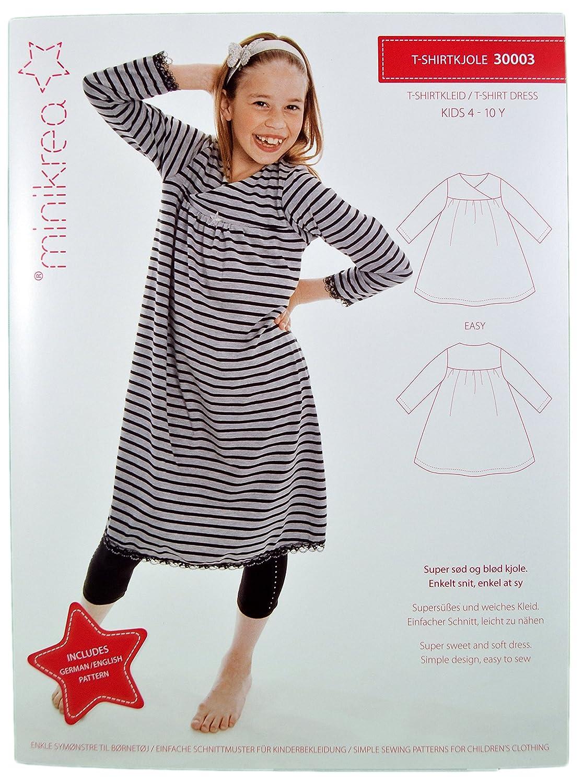Schnittmuster T-Shirtkleid Kleid für Kinder / Gr. 104-146cm / 3X0003 ...
