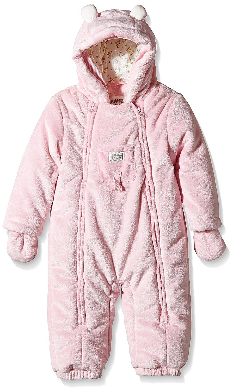 Kanz Baby Overall Winteranzug mit F/äustlinge Frosty Times 0003508 bis Gr 74 mit Schuhen rosa
