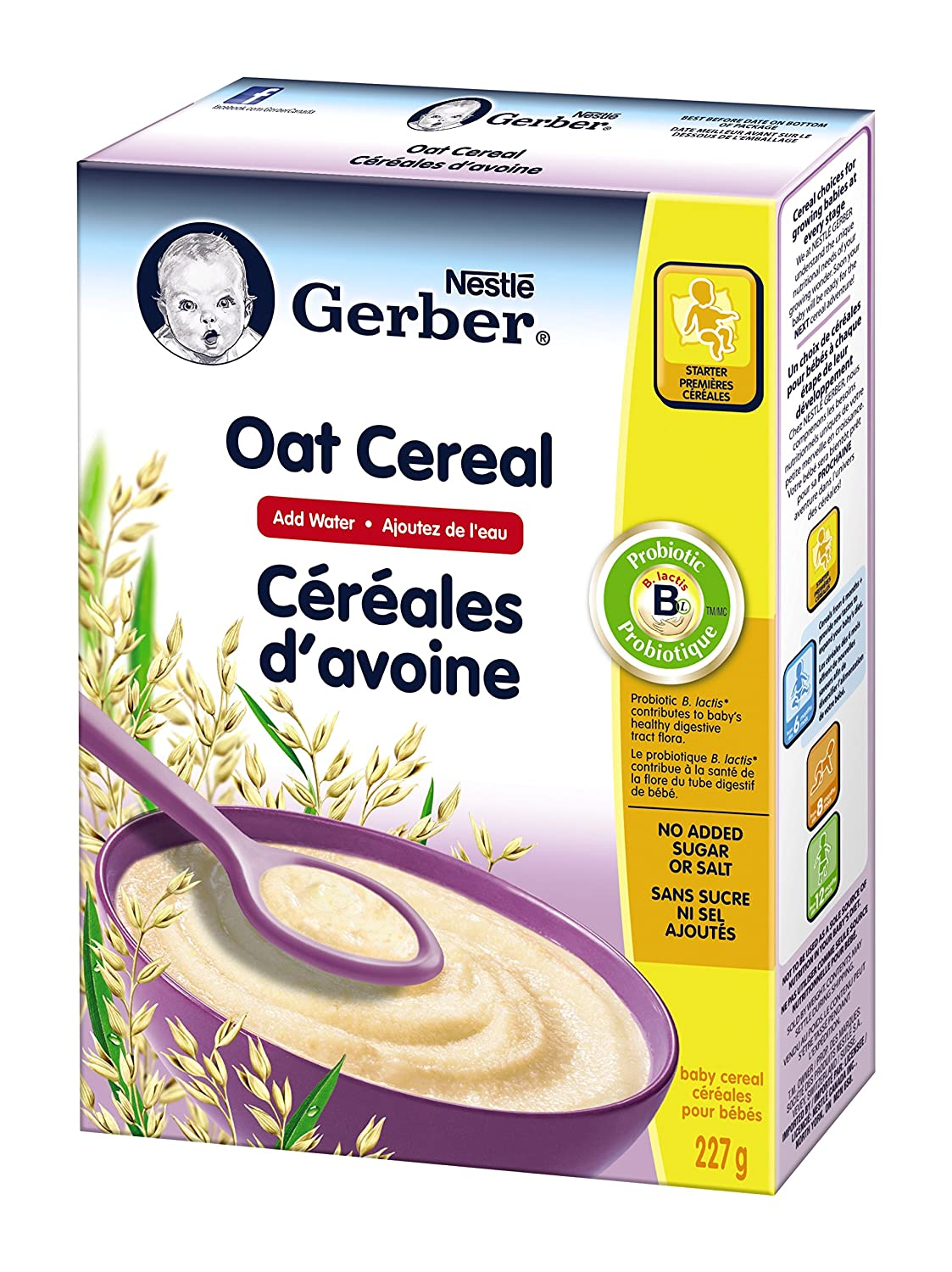 Gerber Baby Cereal, Oat, Add Water, 227-Gram Nestle Canada