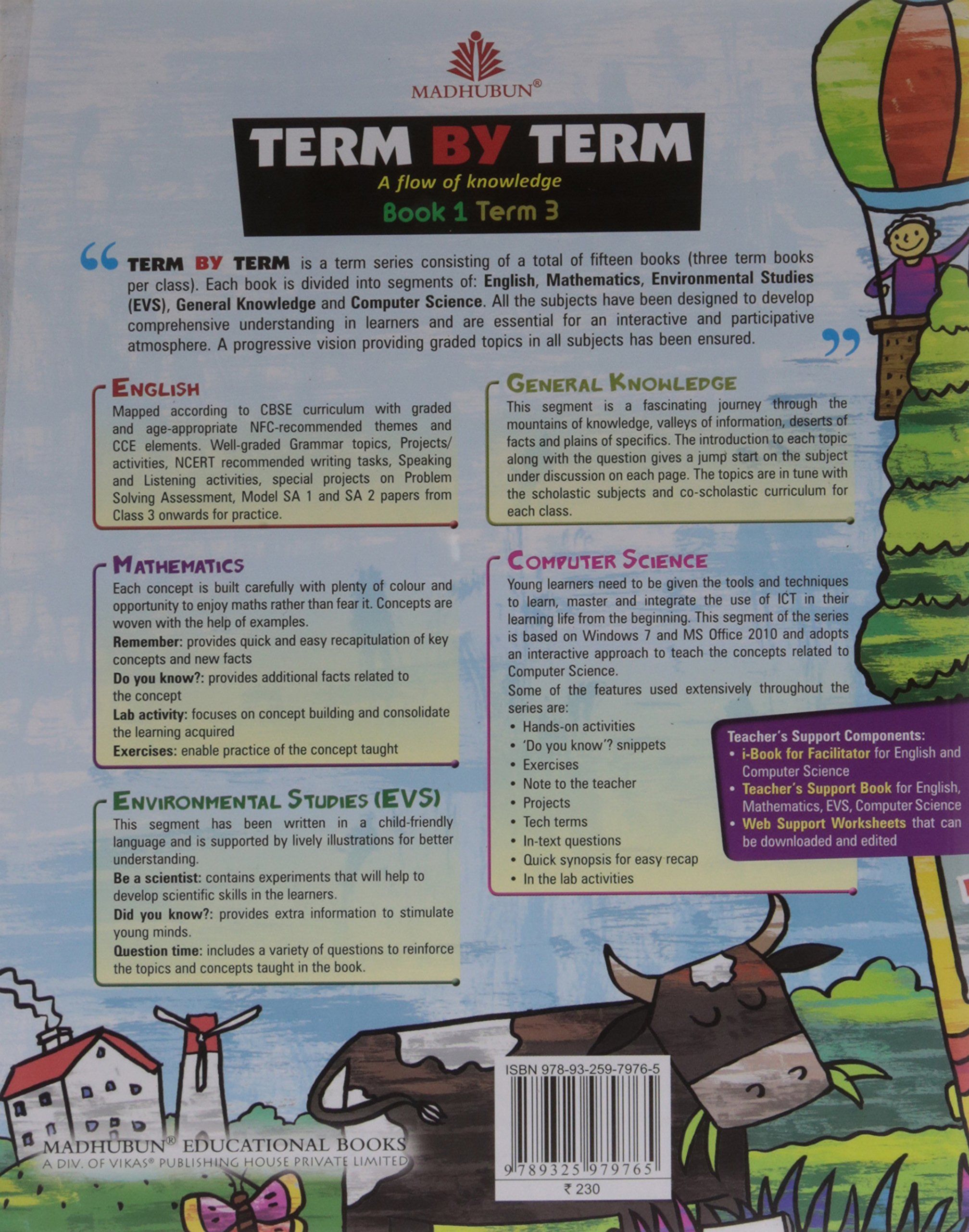 Amazon in: Buy Term by Term Term Books-Class 1-Term 3 Book Online at