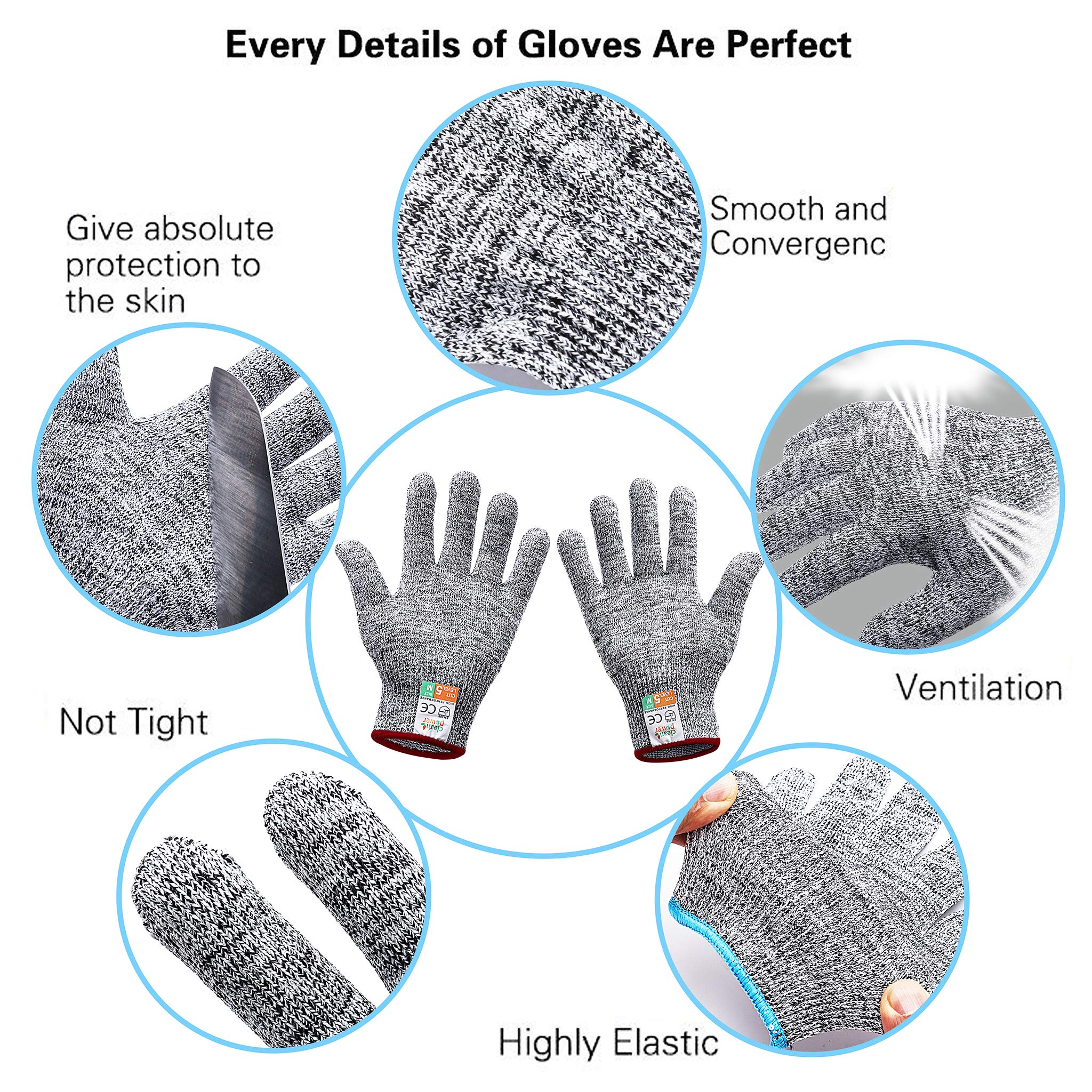 Gorich Cut Resistant Gloves Yard Work Doing,Labor Protecting High Performance Level 5 Protection,Food Grade,Safety Kitchten Gloves for Cutting,Oyster Shucking,Fish Fillet Processing Medium
