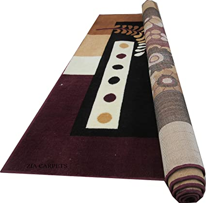 Zia Carpets Most Prefer Design Bed Room & Living Room 150 X 200 cm (5X7 FEET) Brown Colour