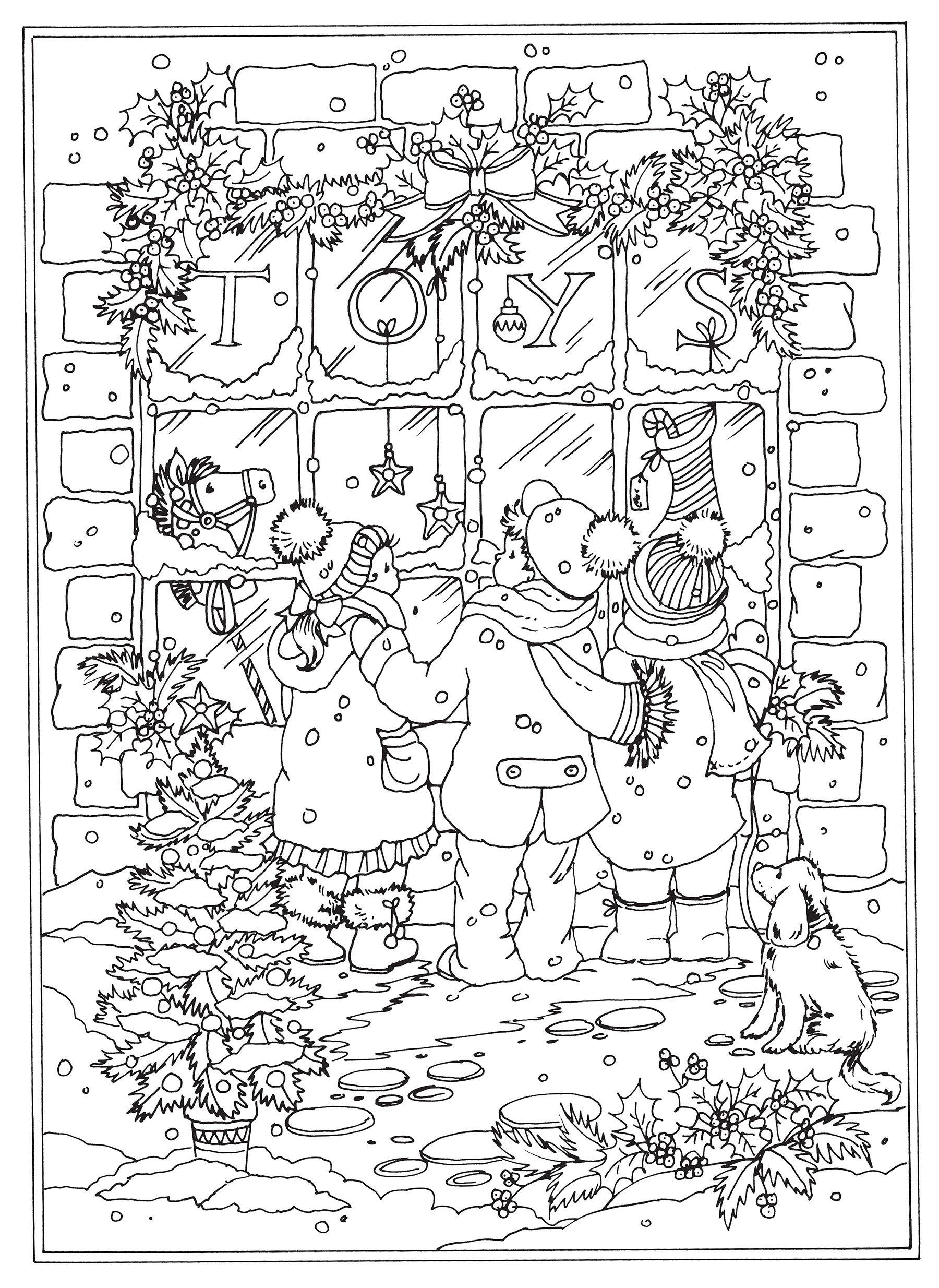 Amazon Com Creative Haven Winter Wonderland Coloring Book Adult Coloring 9780486805016 Goodridge Teresa Books