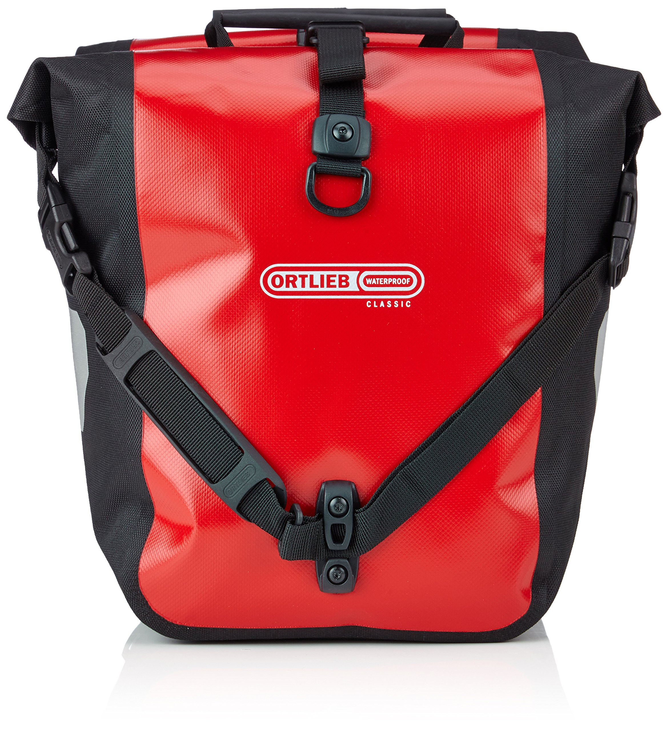 Ortlieb Front-Roller Classic QL2.1 Panniers (pair) RED-BLACK #F6302