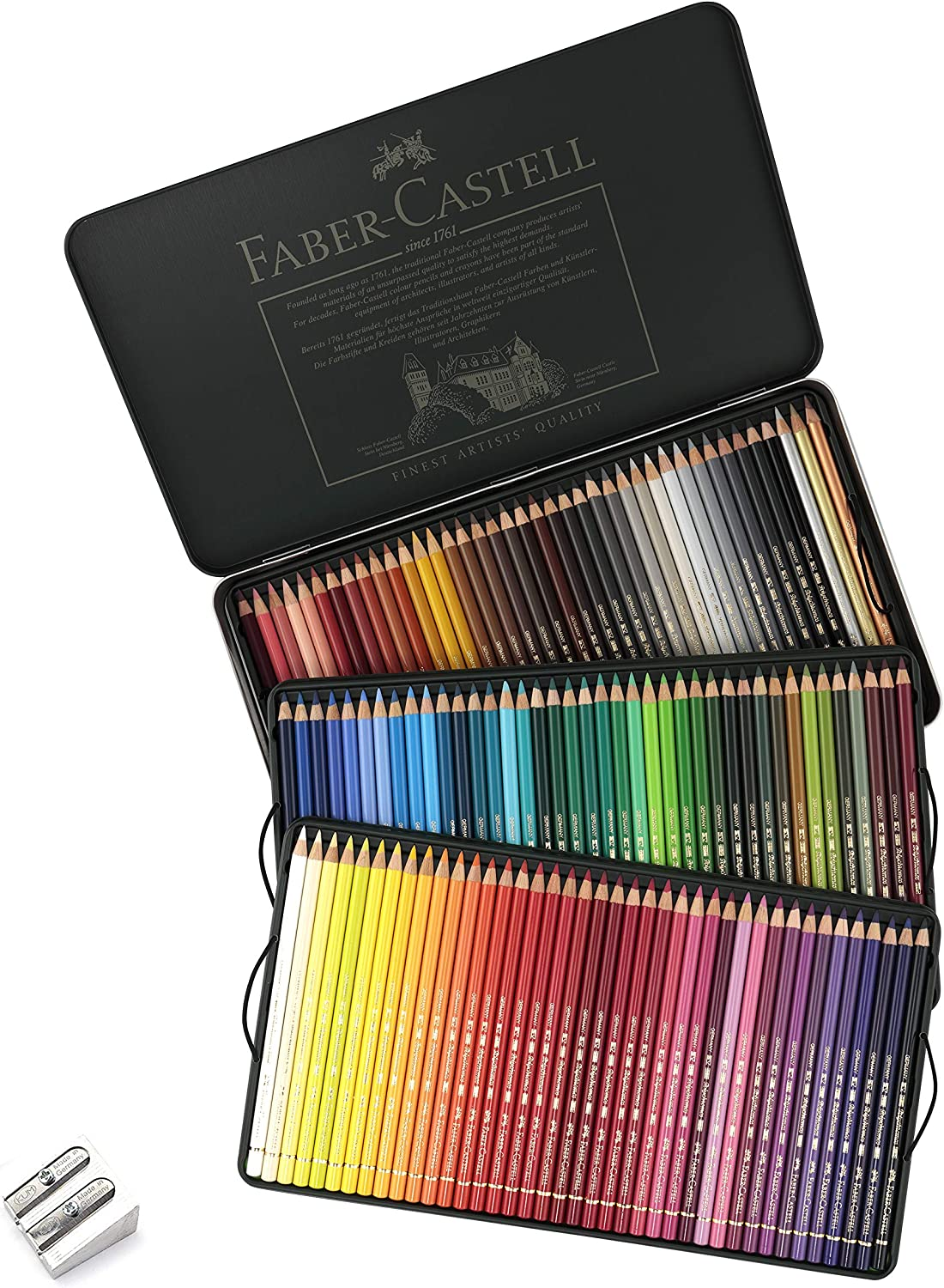 Faber Castell Polychromos Colored Pencil Set In Metal Tin 120pc