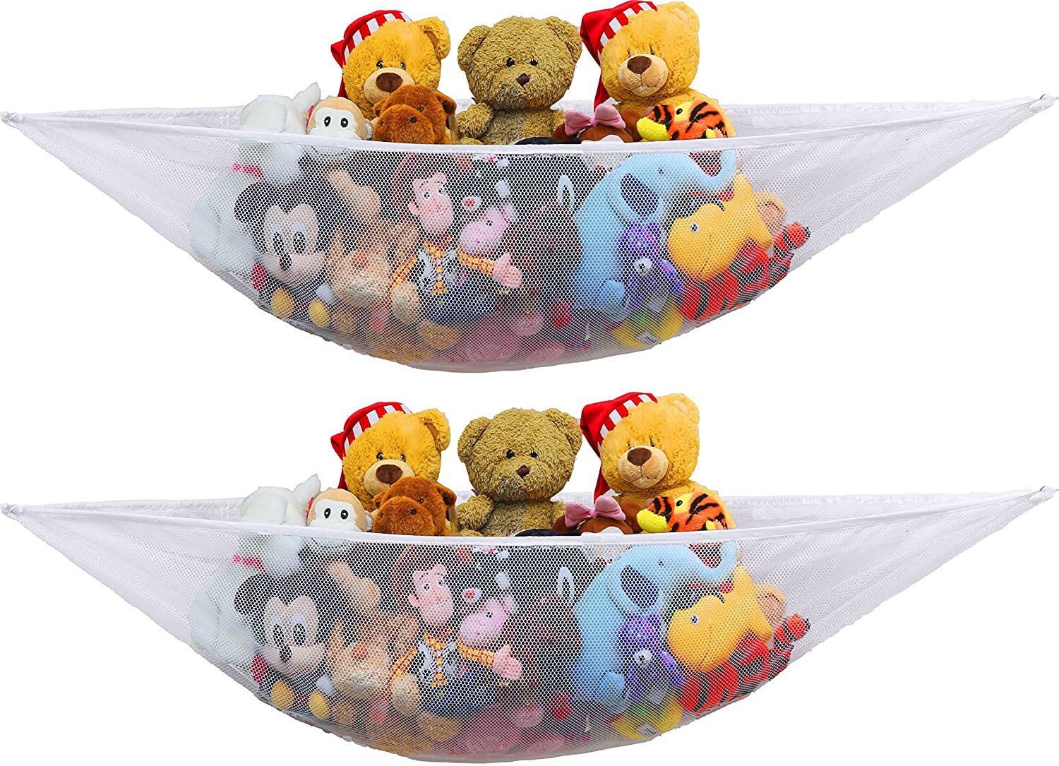 2 PK - Simplehouseware Stuffed Animal Jumbo Toy Storage Hammock 91a5Q52EwmL