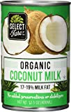 Select Fare Foods Organic Coconut Milk, 13.5 Ounce (Pack of 6)