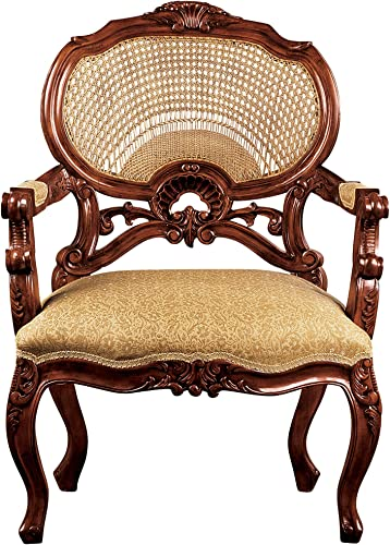 Design Toscano Chateau Marquee Occasional Fabric Arm Chair