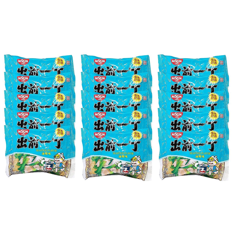 Nissin Damae Iccho Instant Ramen Seafood Flavor (15 Pack, Total of 52.95oz)