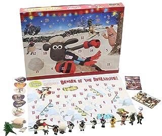 SHAUN THE SHEEP Calendario Avvento per Bambini Wallace e Gromit Cartoni Animati Include Puzzle Gioco da Tavolo Pupazzetti