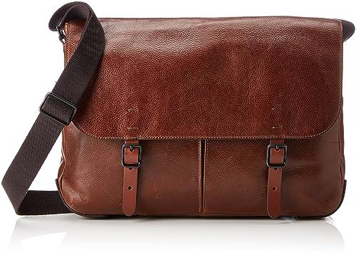 de00d8c12e Fossil Herrentasche ? Defender Messenger, Men's Bag, Brown (Cognac), 8.89x30