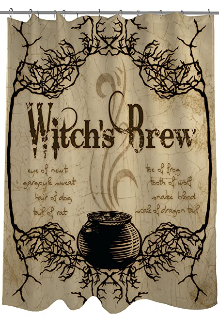 Amazon.com: One Bella Casa Witch\'s Brew Shower Curtain by Kate Ward ...