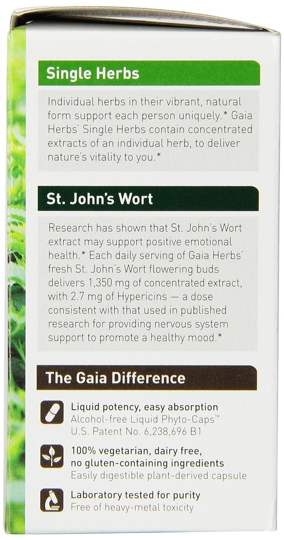 Amazon.com: Gaia Herbs St. John\'s Wort Liquid Phyto-Capsules, 60 ...