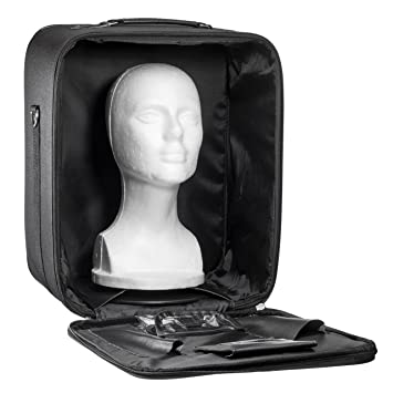 546311c27314 Travel Wig Case Combo Kits - Breathable Canvas Box with Carrying Handles  and Shoulder Straps -...