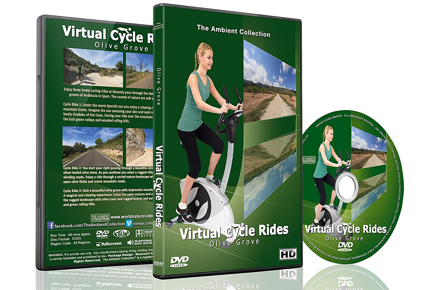 Virtual Cycle Rides - Olives Groves for Indoor Cycling Treadmill ...