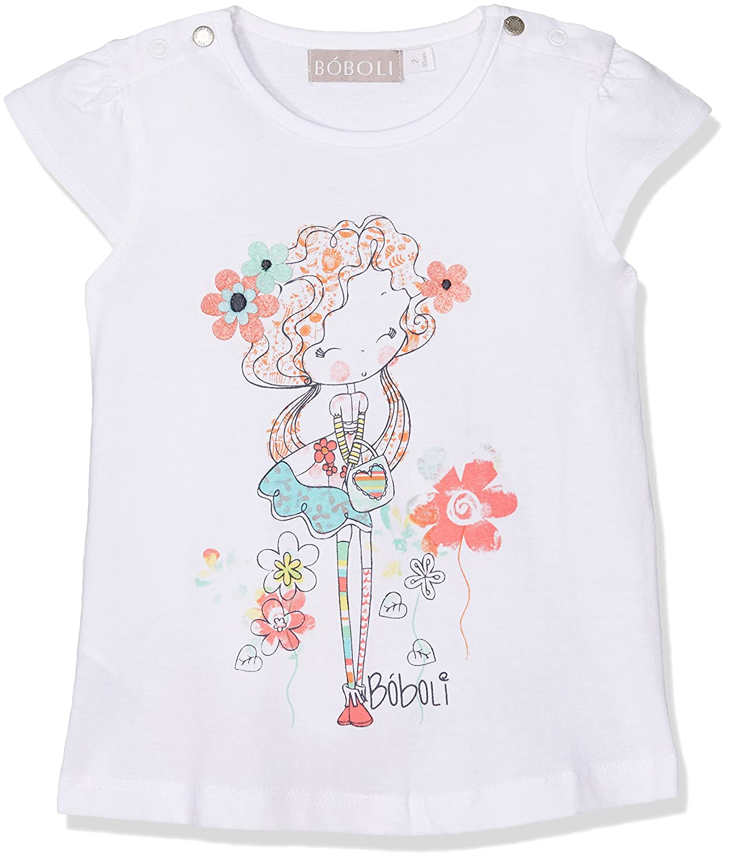 boboli 211037 - Camiseta Punto Liso para bebé-Niñas