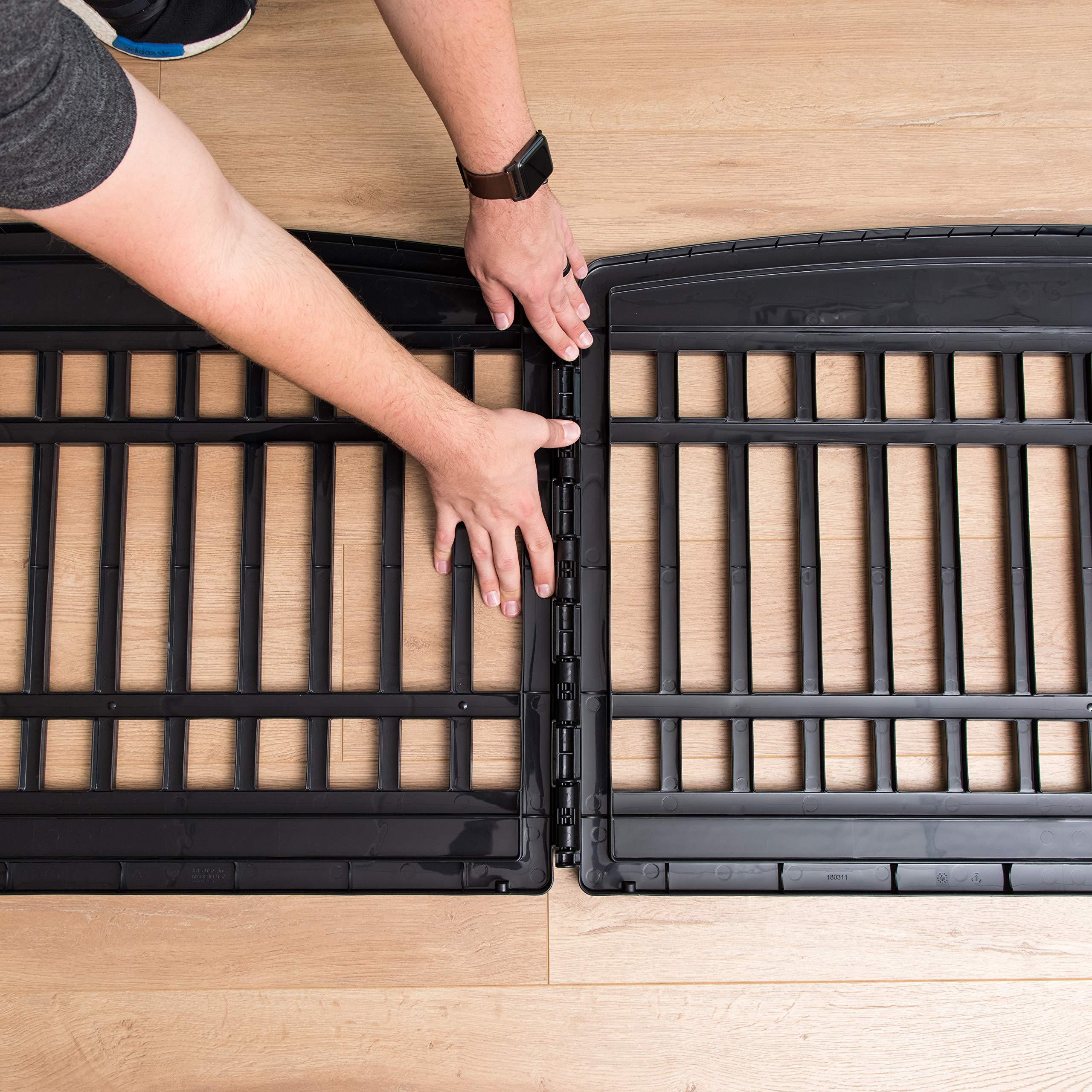 IRIS 24'' 4 Panel Exercise Pet Playpen with Door, Black by IRIS USA, Inc. (Image #8)