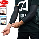 Compression Elbow Sleeves / Supports / Braces Infused With Copper (Pair) | Arthritis | Tennis | Basketball | Muscle & Joint Pain | Men and Women (Unisex)