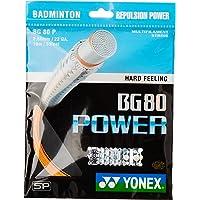 Yonex BG 80 Power Microfiber Badminton String (Bright Orange)