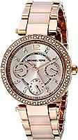 Michael Kors Women's Silvertone Mini Parker Watch