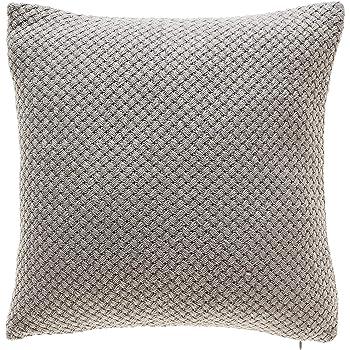 Amazon TINA'S HOME Grey Knit Throw Pillows With Down Feather Impressive Down Decor Pillows