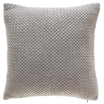 Amazon TINA'S HOME Grey Knit Throw Pillows With Down Feather Custom Down Decor Pillows