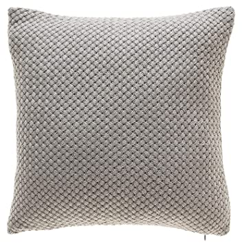 Groovy Tinas Home Grey Knit Throw Pillows With Down Alternative Filling Comfy Solid Color Decorative Throw Pillows For Couch Sofa Bed Living Room Decor Creativecarmelina Interior Chair Design Creativecarmelinacom