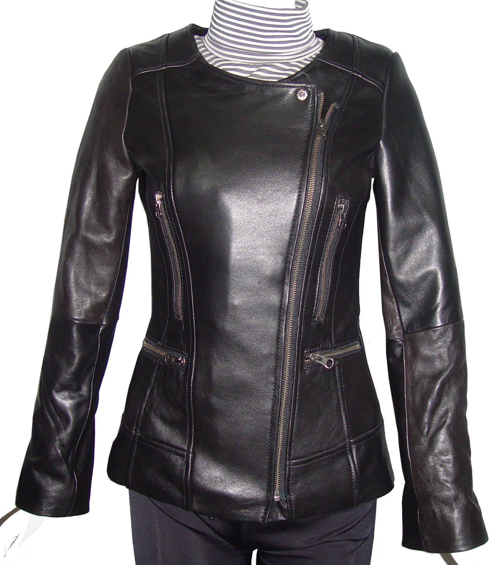Nettailor Women PETITE & ALL SIZE Fashion 4128 Leather Motorcycle Jacket
