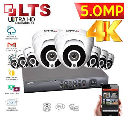 LTS 8 Canales DVR LTD8508K-ST 5,0 MP 4 Cámaras Prolux 5 MP