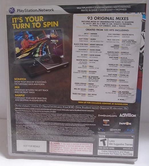 Amazon com : PS3 PLAYSTATION 3 DJ HERO -- START THE PARTY
