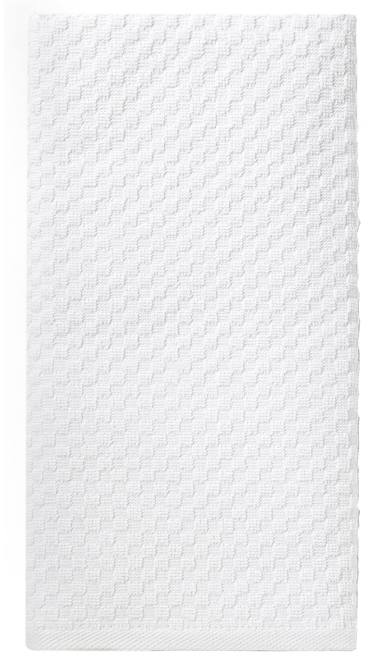 Cotton Craft - 12 Pack - Euro Cafe Waffle Weave Terry Kitchen Towels - 16x28 Inches -White - 400 GSM quality - 100% Ringspun 2 Ply Cotton - Highly Absorbent Low Lint - Multi Purpose by Cotton Craft