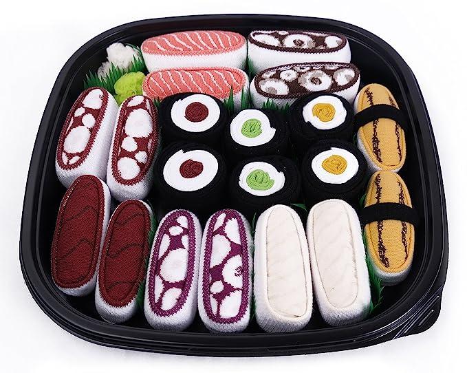 Sushi – Caja de calcetines 10 pares – Tamago, Salmón, butterfish, el atún