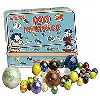 160 Traditionnel Assorti Multicolore Rétro Classique verre marbré dans une boîte Jeu Enfants