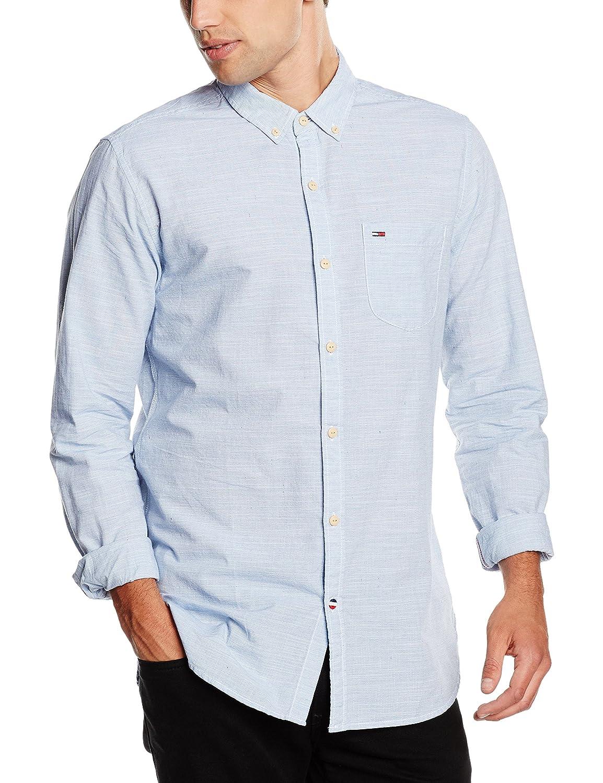 Hilfiger Denim Herren Freizeit Hemd Neps Stripe Shirt L/s 1